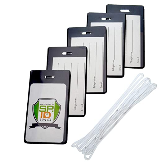 a26e03d82332 Backpack ID Tags Set of 5 - Instant Bag & Luggage Recognition by Specialist  ID