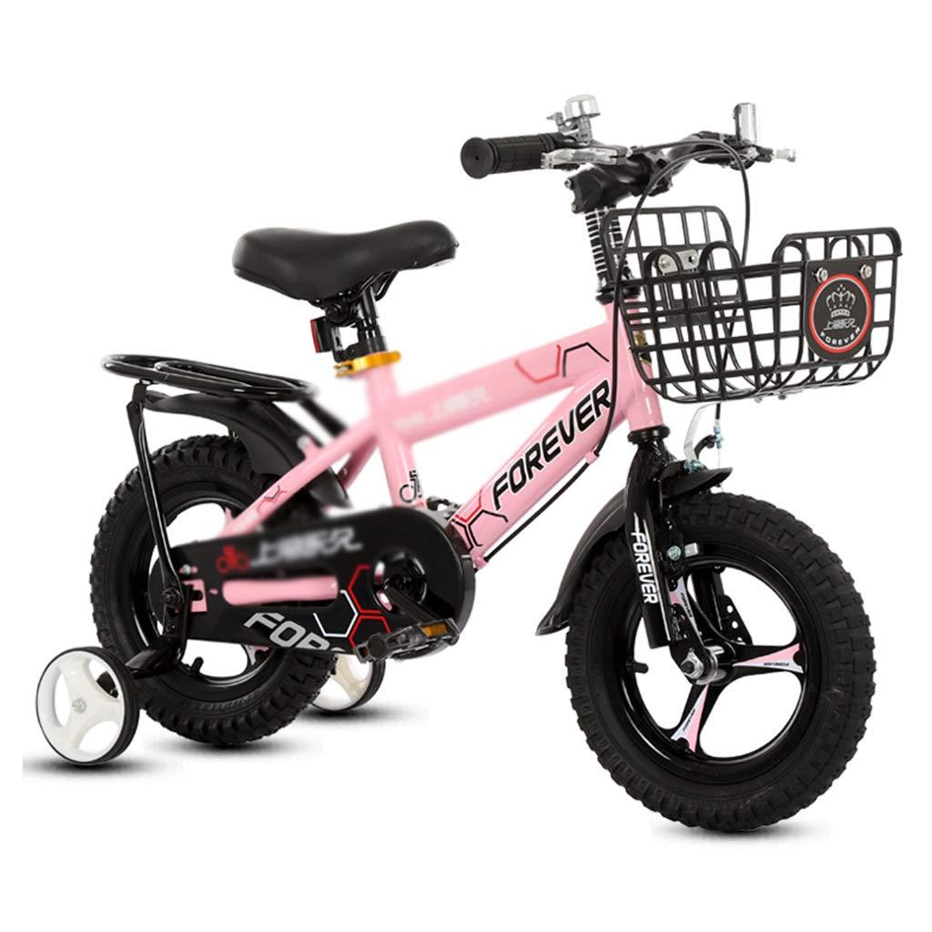 子ども用自転車 子供の自転車シングルスピード自転車学生自転車男の子女の子自転車補助車輪付き、2つのスタイル、12インチ、14インチ、16インチのために交換することができます (Color : Pink, Size : 14inches) 14inches Pink B07MRLMY8C