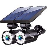 Solar Motion Sensor Lights Outdoor 1400-Lumen 9-Watt(110W Equ.) Aluminum Solar Flood Security Spotlight for Garden…