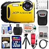 Fujifilm FinePix XP80 Shock & Waterproof Wi-Fi Digital Camera (Yellow) with 32GB Card + Battery + Case + Tripod + Strap + HDMI Cable + Kit
