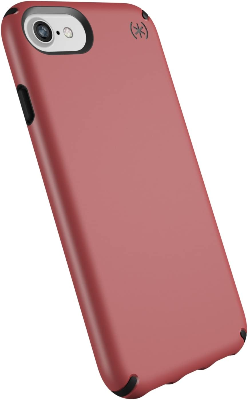 Speck Products Compatible Phone Case for Apple iPhone SE (2020)/iPhone 8/iPhone 7/iPhone 6S/iPhone 6, Presidio Mount Case, Velour Pink/Black
