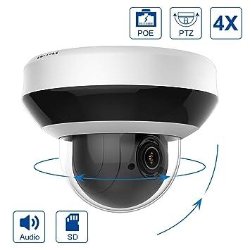 Anpviz Cámara de vigilancia IP PTZ 4.0MP PoE, Mini cámara de ...