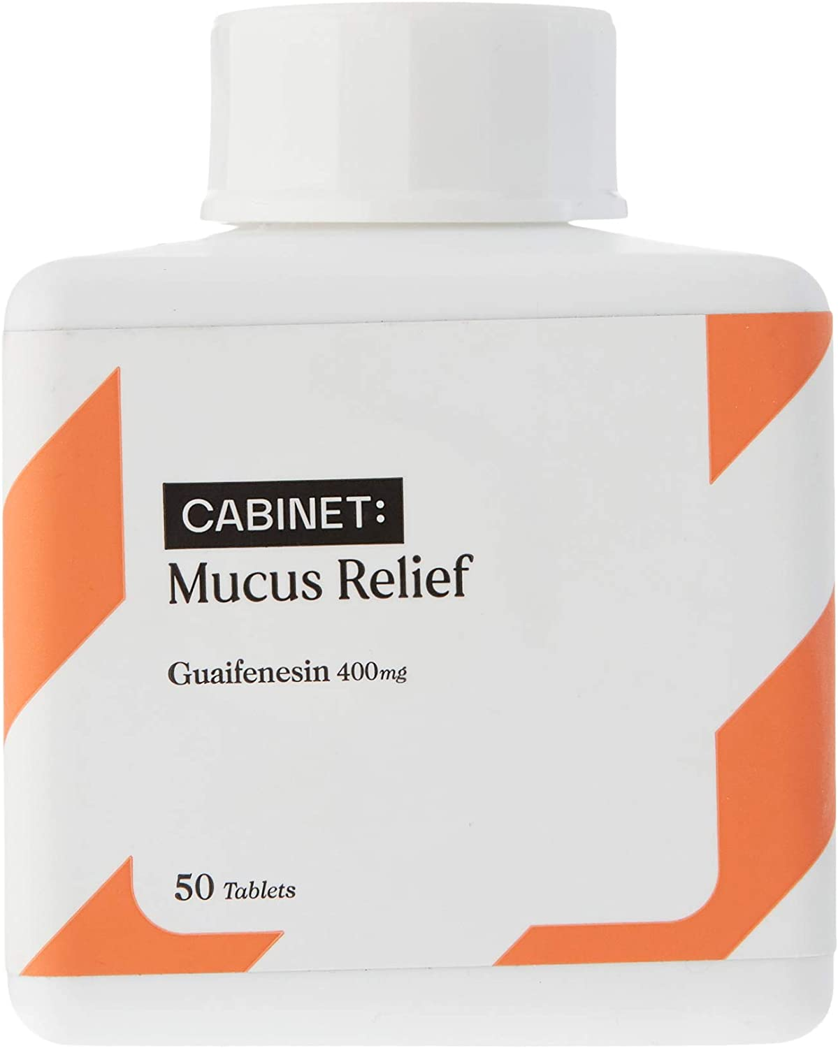 Cabinet Mucus Relief Caplets (Active Ingredients Guaifenesin 400mg) | Chest Congestion and Decongestant | Thins and Loosens Buildup | Fast Acting: Health & Personal Care