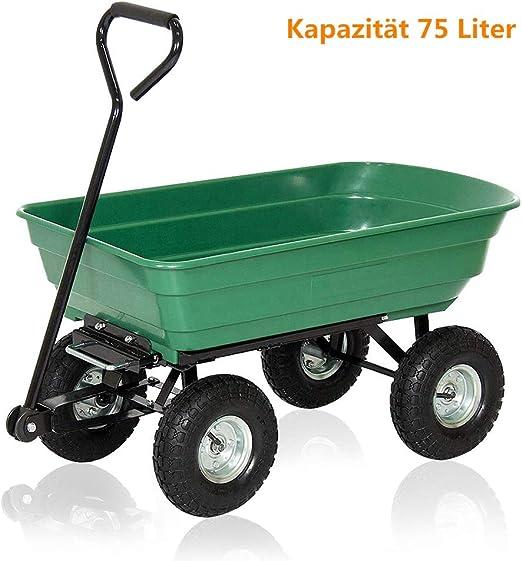 Aufun - Carretilla de jardín de plástico ergonómica con ruedas de goma hinchables grandes, para herramientas, Tipo B1.: Amazon.es: Jardín