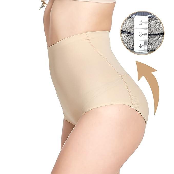 f991bd1f54 AICONL Women High Waist Tummy Shapewear Seamless Control Panty Padded  Underwear Butt Lifter Shorts Beige