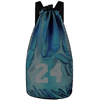Sankexing Perfect Portable Basketball Backpack Mesh Holder Sports Equipment Bag with Adjustable Shoulder Strap for Football , Basketball, Soccer Ball , Volleyball Activities