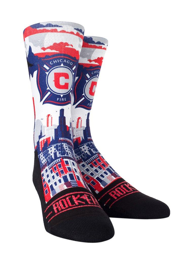 Rock Em Apparel MLS Chicago Fire Custom Athletic Crew Socks