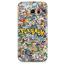 All Pokemons Logo Collage Kanto Pokemon Hard Plastic Snap-On Case Cover For Samsung Galaxy S6