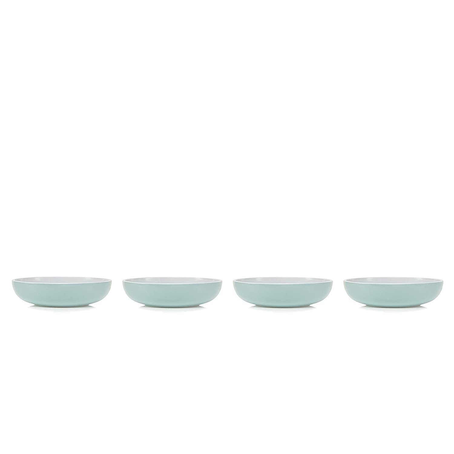 Debenhams Home Collection Basics Pack Of 4 Turquoise Two Tone Pasta Bowls