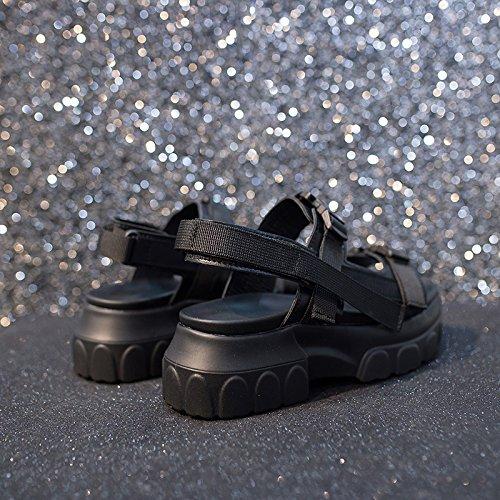 Hembra de Nuevas Sandalias de Femeninas Sandalias de Plataforma Moda de QQWWEERRTT Época Verano Romanas naranja Zapatos gqxfw4Fa
