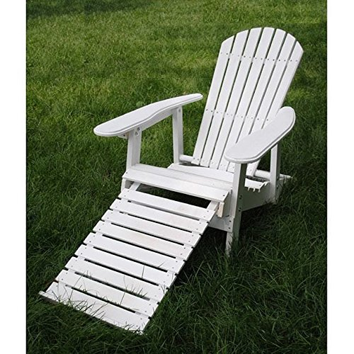 Style Adirondack Footrest (White Folding Adirondack Pull-out Footrest Chair)
