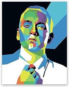 Eminem Poster – Rap Icon Wall Print – Marshall Mathers Pop Art Home Decor Portrait (11x14)