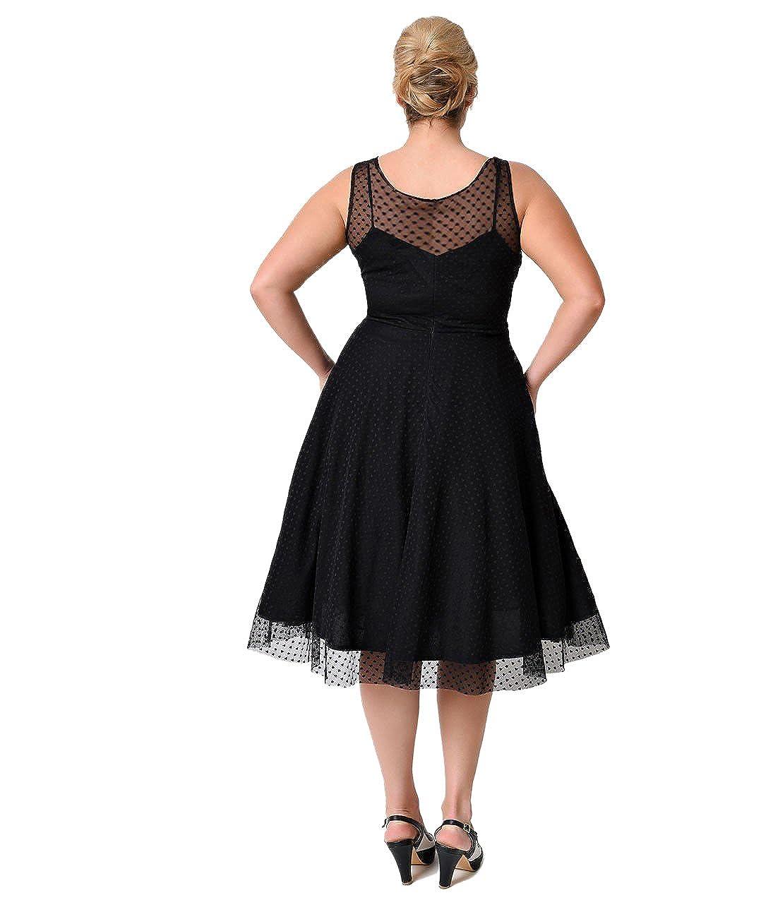 Oriention Damen Kleid schwarz schwarz XXL Gr. 28, schwarz: Amazon.de ...