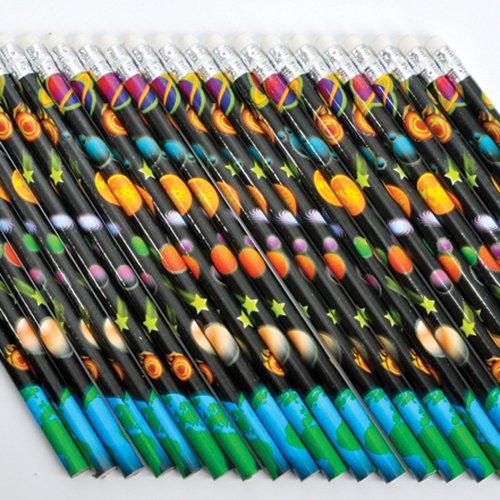 12 Outer Space Pencils Eraser