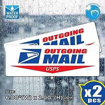 de8f4484c AllWeather (Pack of 2) USPS Outgoing Mail Sign Post Office Logo Decal  Sticker US Postal Vinyl Label