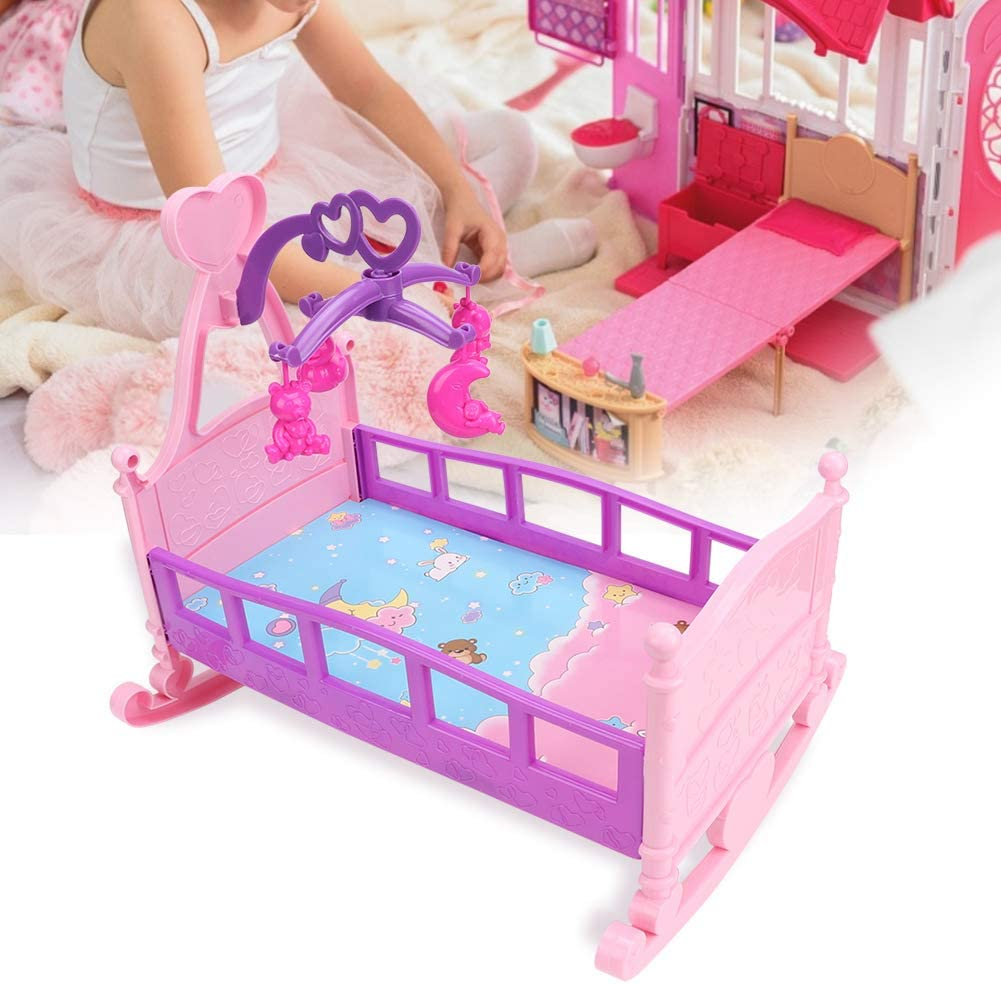 """15CM 5.9/"""" Doll Princess Bed For Doll House Furniture Kid Play House Toy Gift ^"""