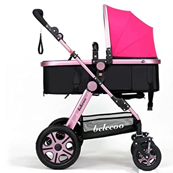 La carretilla de los niños, cochecito ligero, carro de bebé de alto perfil,