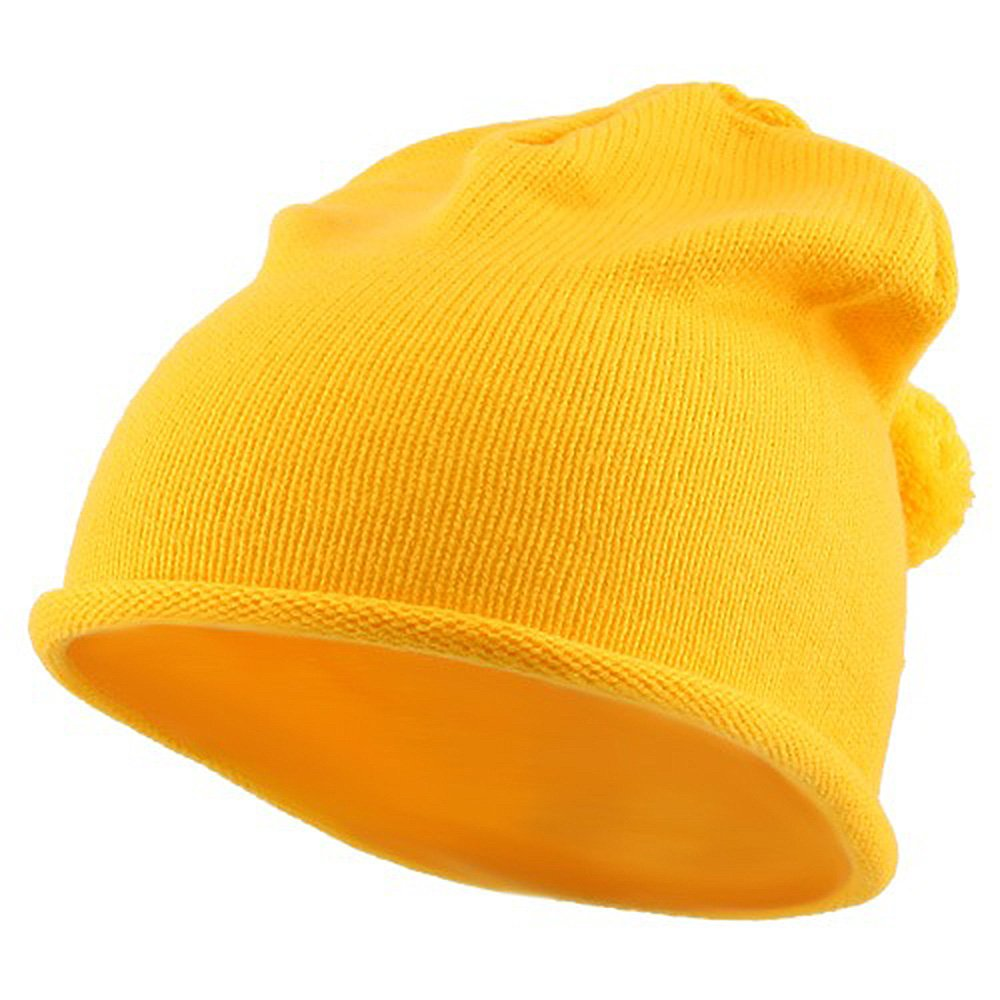 Children Knitting Hat - Gold ck006yh-yellow-osfm