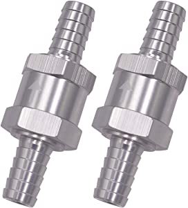 Wolfride 2PCS 10mm Fuel Line Check Valve 3/8 Inch Fuel One Way Check Valve