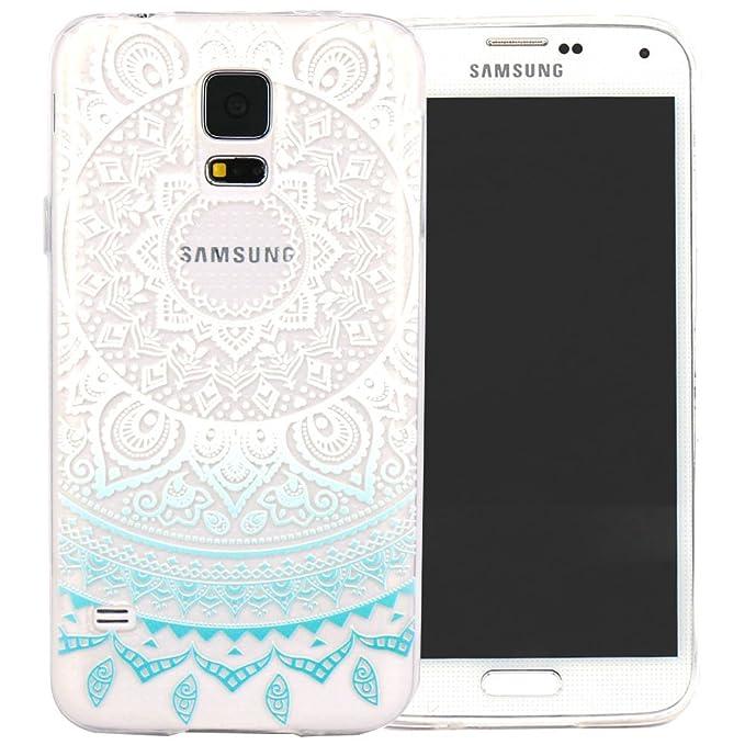 8 opinioni per Galaxy S5 mini Cover, JIAXIUFEN TPU Gel Protettivo Skin Custodia Protettiva