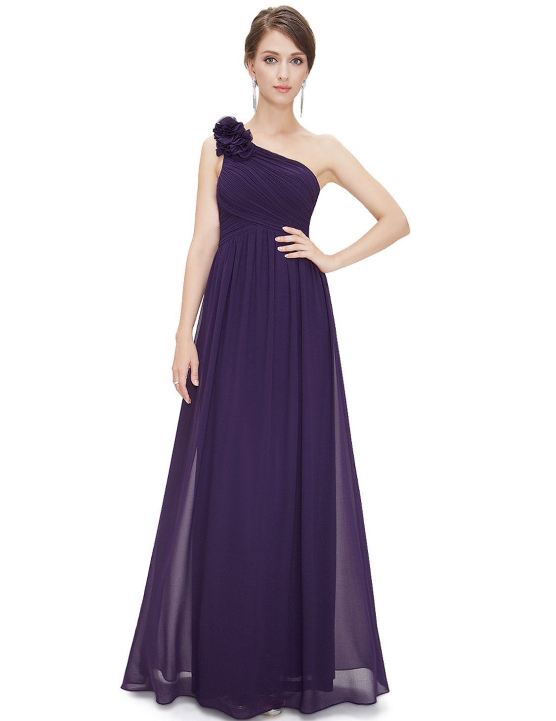 Ever-Pretty Floor Length Evening Dresses for Women 12US Purple