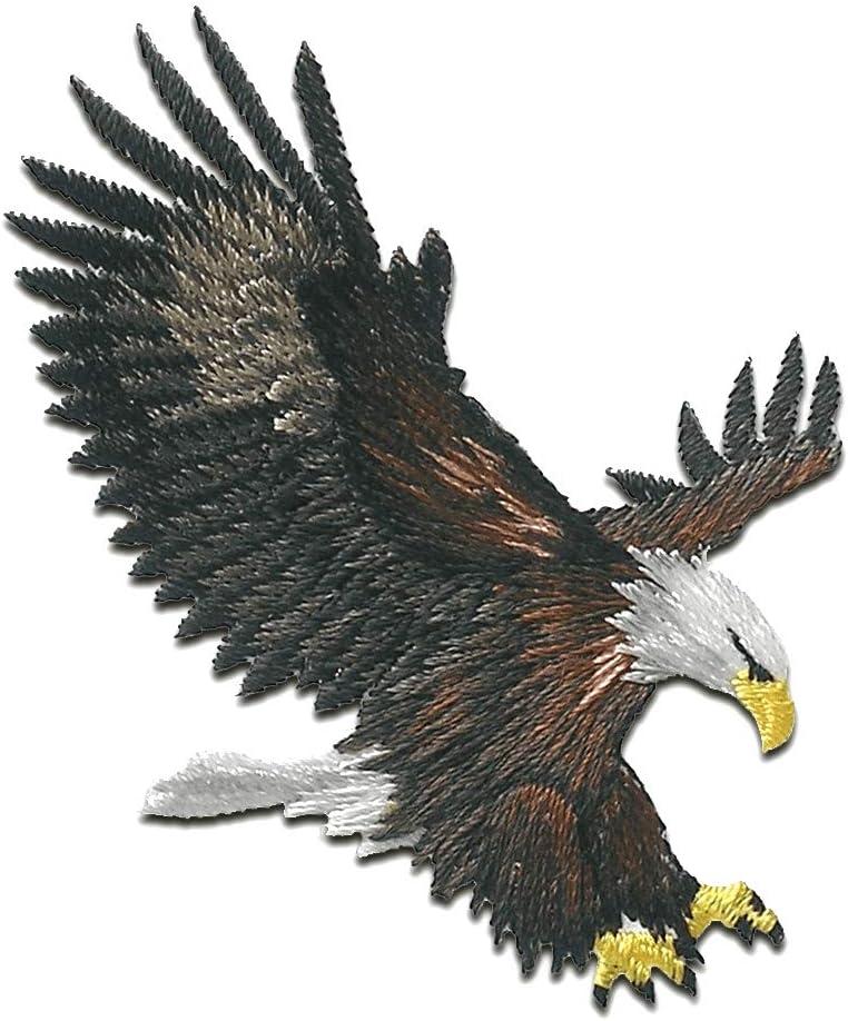 Parches - águila pájaro está volando - marrón - 6,3x5,5cm - termoadhesivos bordados aplique para ropa