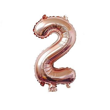 Amazon.com: Suppliesed 32 pulgadas oro rosa número foil ...