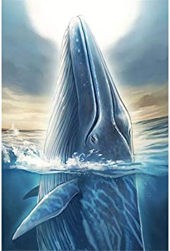 Diamond Painting Jumping Whales Design Embroidery Lovely House Wall Displays