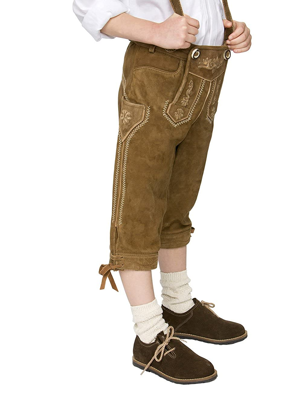 Stockerpoint Chlidren Leather Trousers Knee Length P-300 Lightbrown