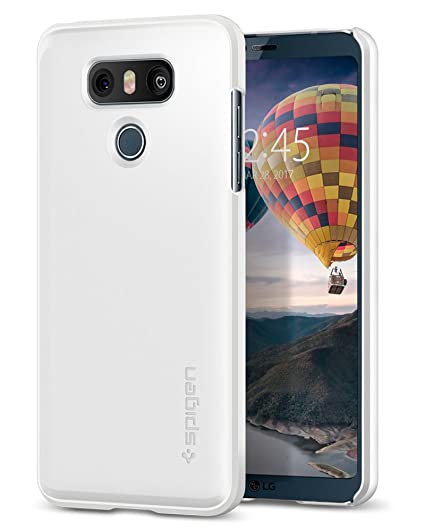 huge discount 16723 c8520 Spigen Thin Fit LG G6 Case / G6 Plus Case with Light but Durable Slim  Profile with QNMP for LG G6 (2017) / LG G6 Plus - Shimmery White