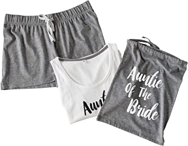 Team Bride Pyjamas Wedding Hen Party Night Bride To Be Pjs Vest Shorts Set V2 Amazon Co Uk Clothing