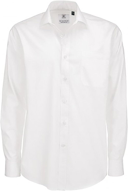 BC Footwear B/&c Mens Smart Long Sleeve Poplin Shirt Camisa de Oficina para Hombre