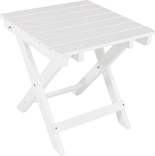 Sunnydaze All-Weather Folding Patio Side Table