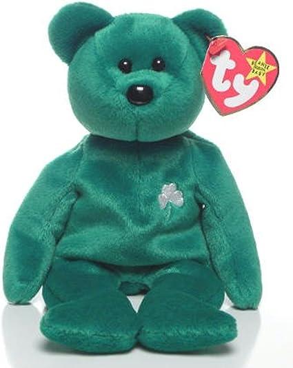 TY ERIN the IRISH BEAR BEANIE BABY MINT with MINT TAG