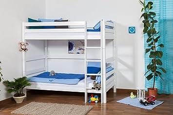 Kinderbett Etagenbett : Kinderbett etagenbett thomas buche vollholz massiv weiß lackiert