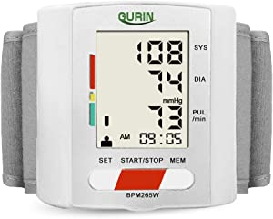 Gurin Automatic Wrist Blood Pressure Monitor with Large Display, Digital BP Cuff Meter