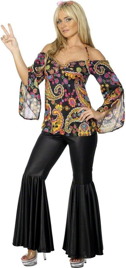 NET TOYS Disfraz años 70 Hippie para Mujer Vestido Cultura ...