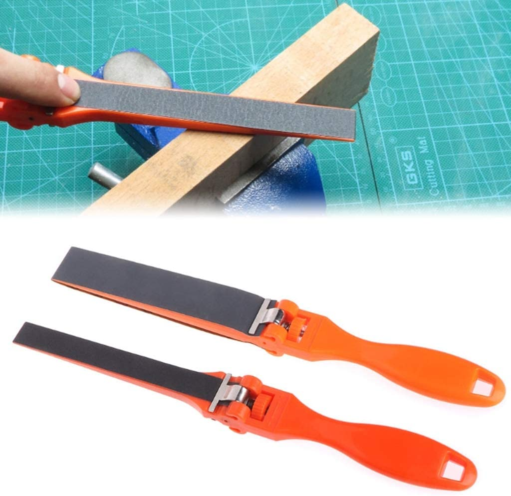 Orange dailymall Jewellers Emery Sticks Tools Jewelry Metalsmith Polishing Grit Stick Handle 27x1.6cm