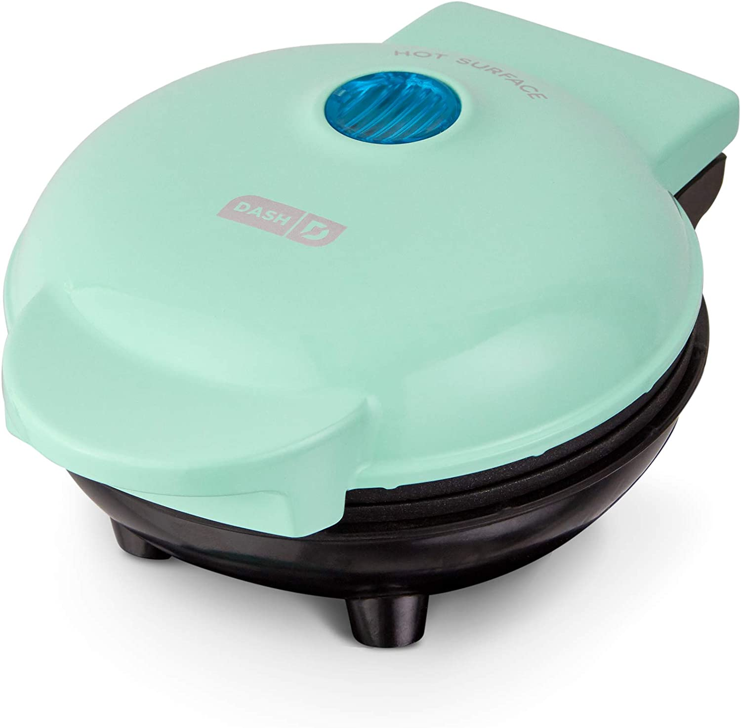 Dash DMS001AQ Mini Maker Electric Round Griddle for Individual Pancakes, Cookies, Eggs