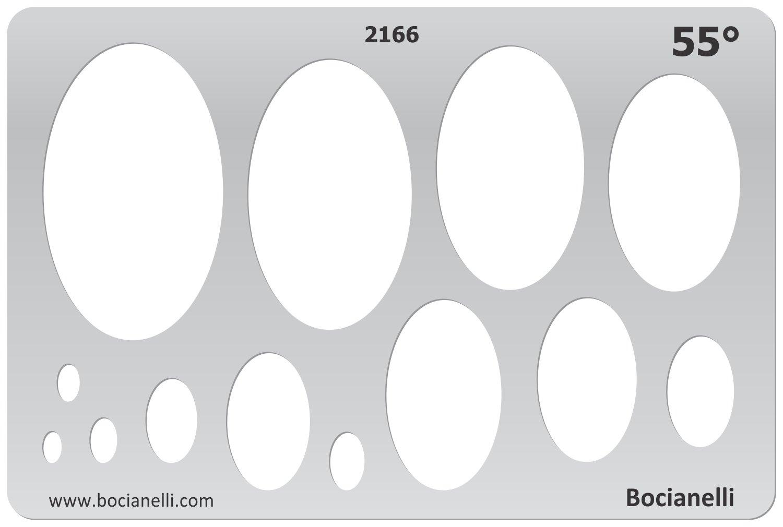 15cm x 10cm Maschera Stencil di Plastica Trasparente per la Progettazione Grafica Disegno Design Gioielli Illustrazione - Bocianelli CAD-IM-2166
