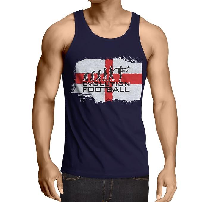 lepni.me Camisetas de Tirantes para Hombre La Evolución de Fútbol - Inglaterra, Campeonato