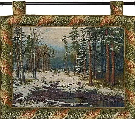 The First Snow By Ivan Shishkin Jacquard Woven 27 W X 21 L Wall Hanging Tapestry Home Decoration Fine Art