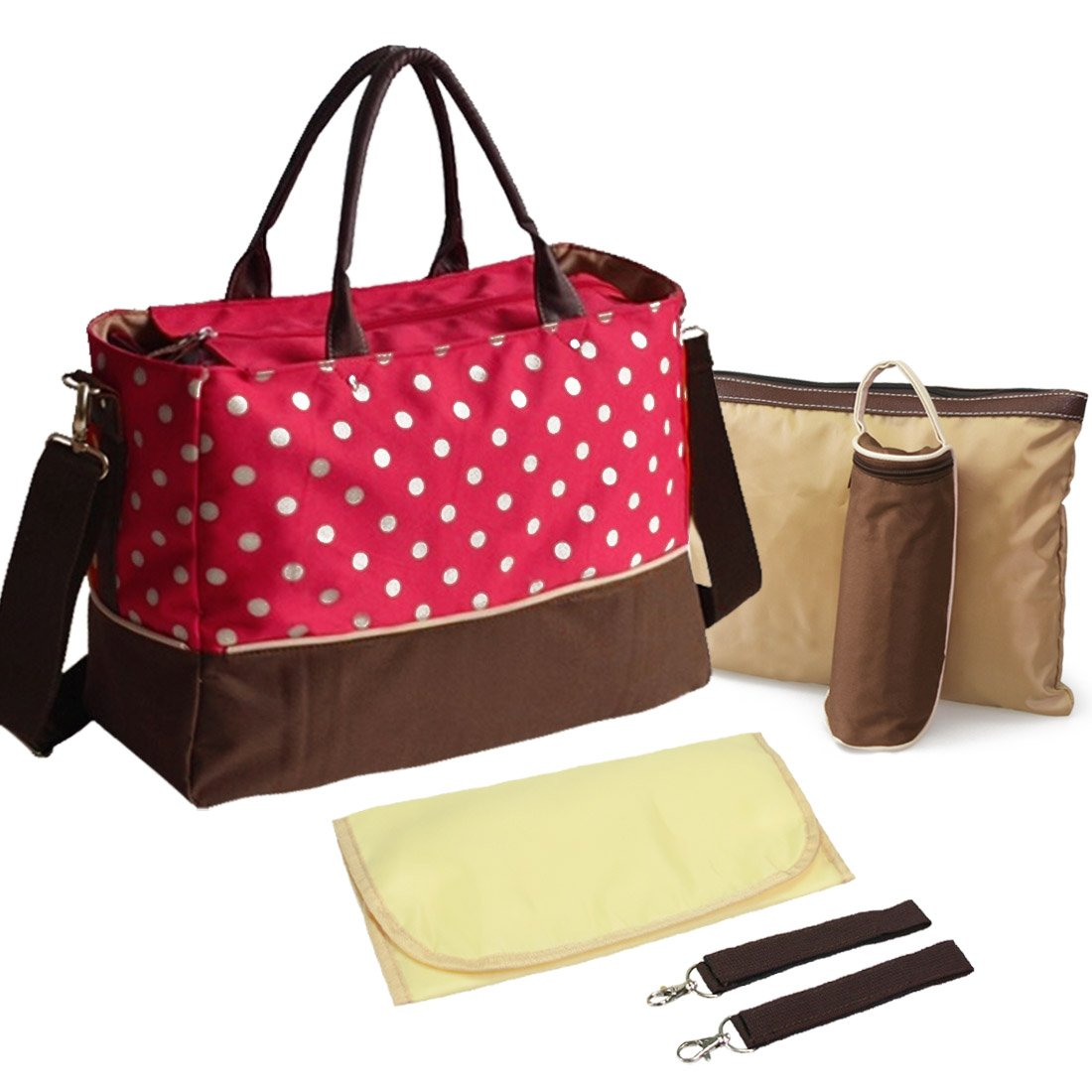 KF Baby Luv Diaper Bag Value Set, with Crossbody bag strap, Stroller hooks, more kilofly
