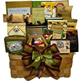 Super Snack Sampler Gourmet Food Gift Basket with Smoked Salmon (Chocolate Option)