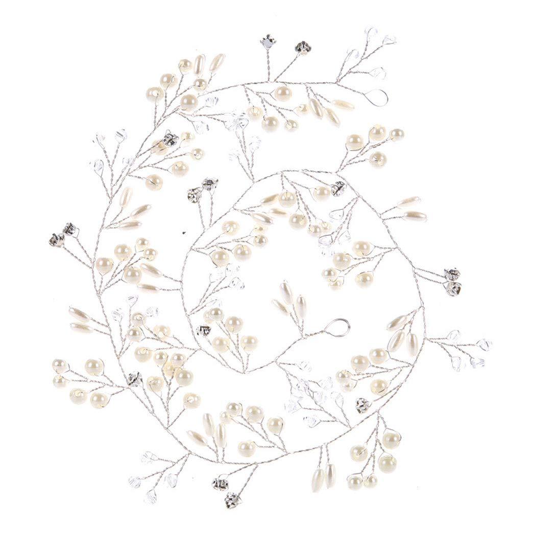 da 50 cm // 100 cm Filo per capelli da matrimonio o comunione copricapo a  fascia con cristallo per donne e ragazze perle e strass