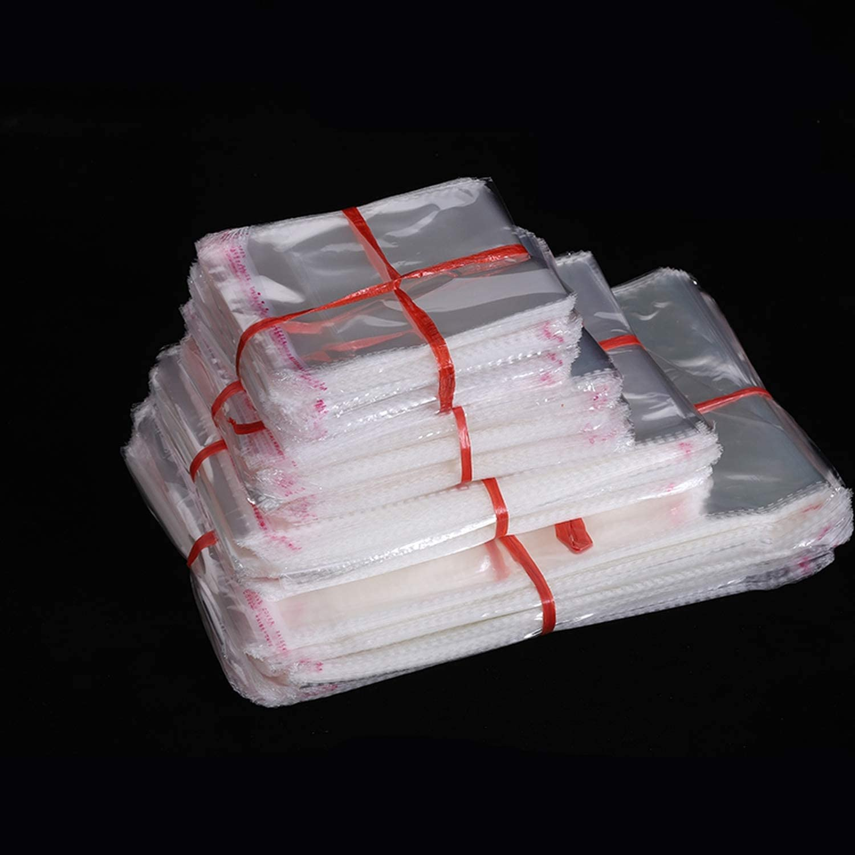 Use 19.5X26 Sac Cadeau 100 Pcs Clair Auto-Adh/ésif Violoncelle Cellophane Sac Auto-Scellant En Plastique Sacs V/êtements Bijoux Emballage De Bonbons Opp Refermable-20X30Cm