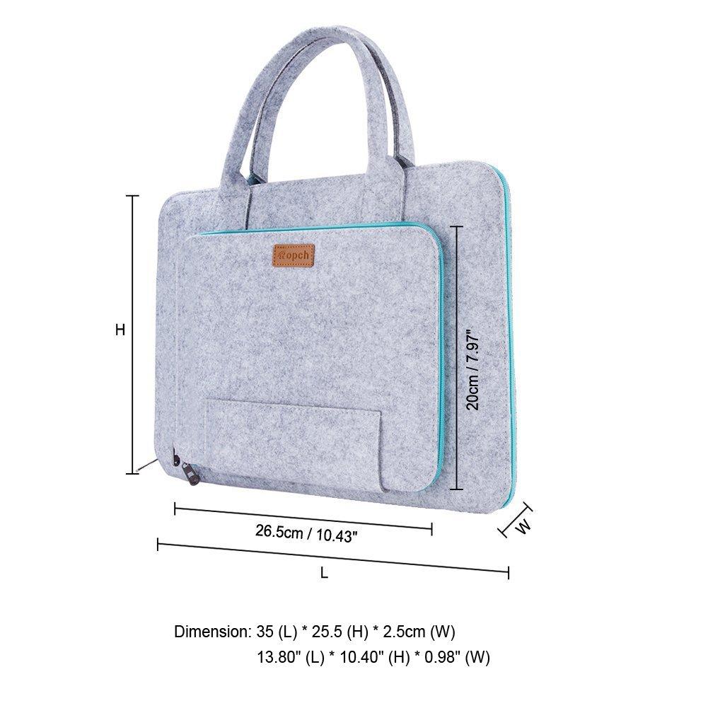 c4b3941d38 Ropch 11 11.6 Pouces Housse Ordinateur Portable Laptop Sleeve Case Sacoche  Poche Etui Pochette avec Poignée pour 11.6