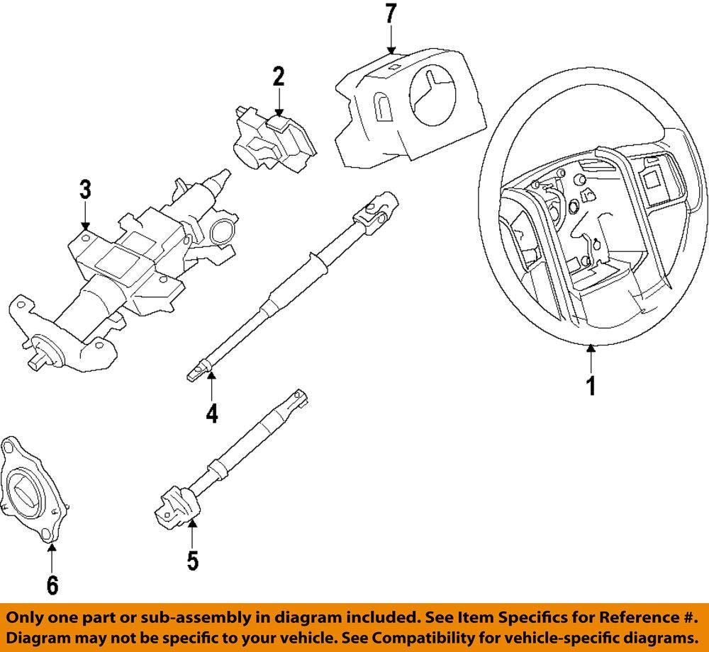 2011-2016 Ford F250 F350 F450 F550 Super Duty Black Vinyl Steering Wheel OEM