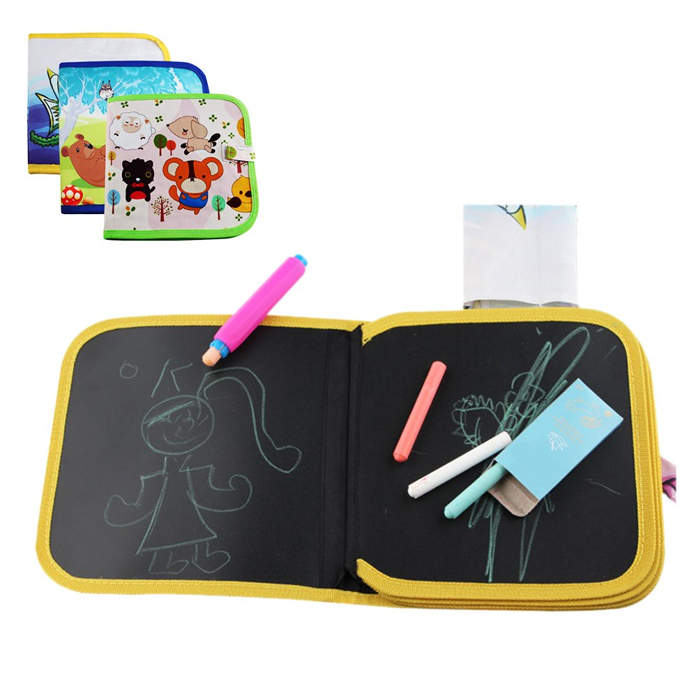 Per Graffiti planche à dessin pour les enfants Soft Slate livres pour l'écriture et le dessin Jouets éducatifs pour l'éducation préscolaire pour les bébés Enfants (A)