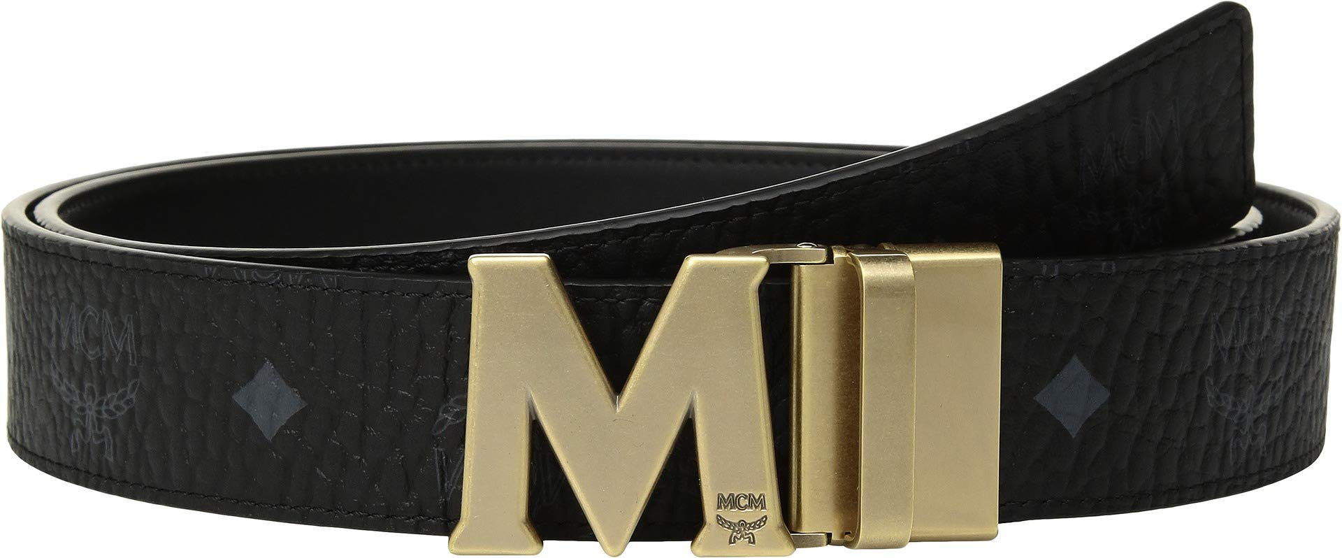 MCM Mens Claus Reversible Belt Black One Size